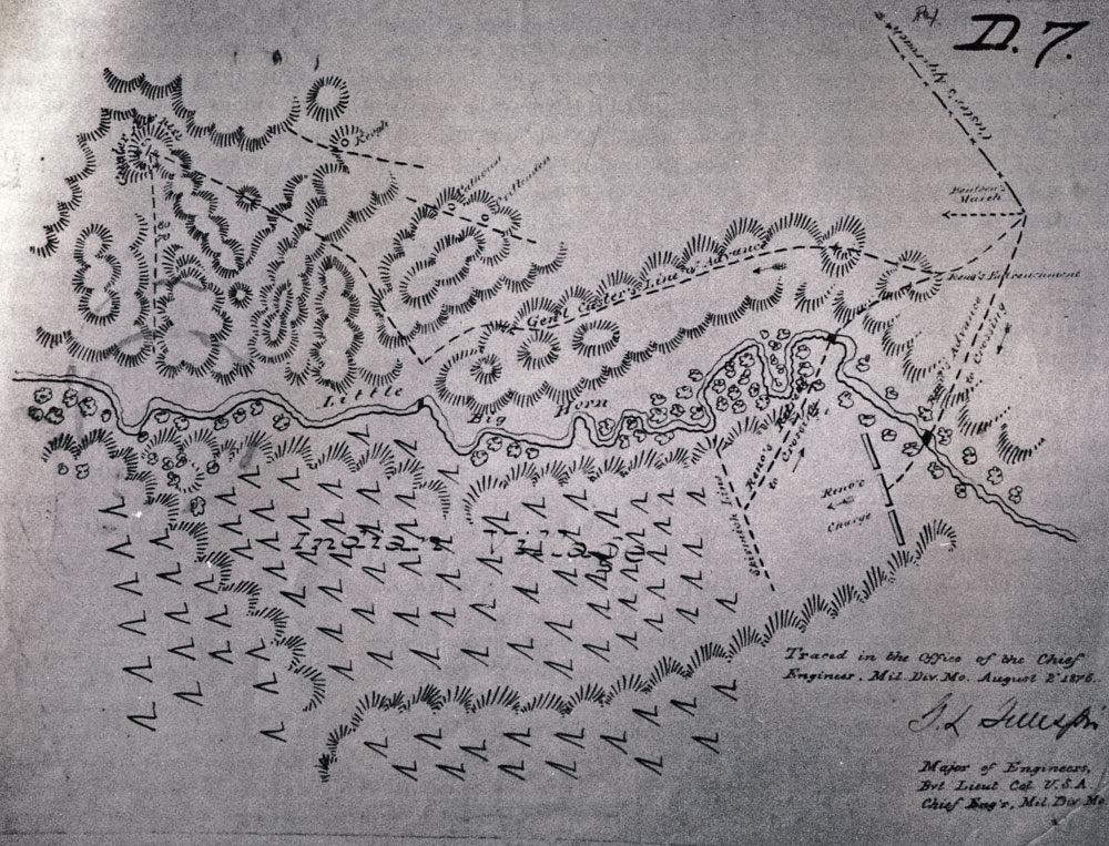 Interview Michael Donahue - Us map with little bighorn river